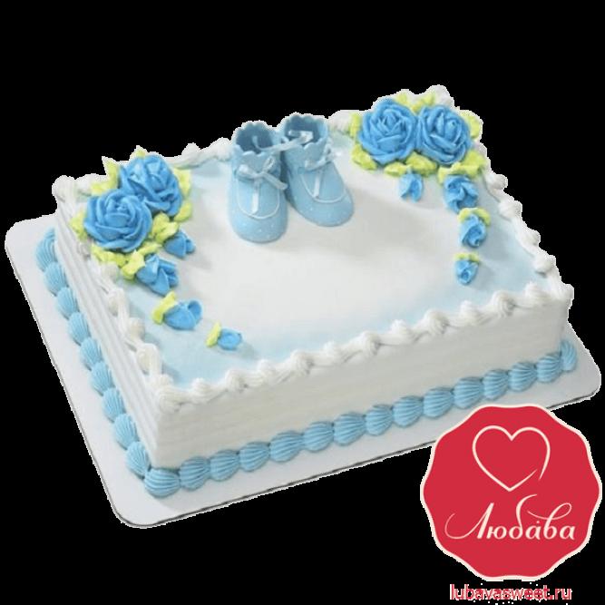 Торт новорожденному мальчику №833
