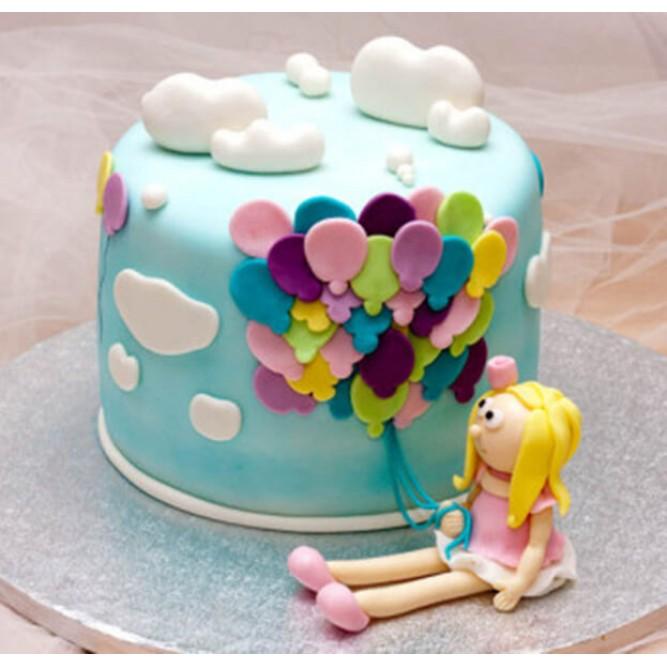 Торт из воздушных шаров №827
