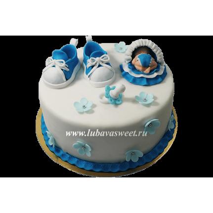 Торт на рождение малыша №640