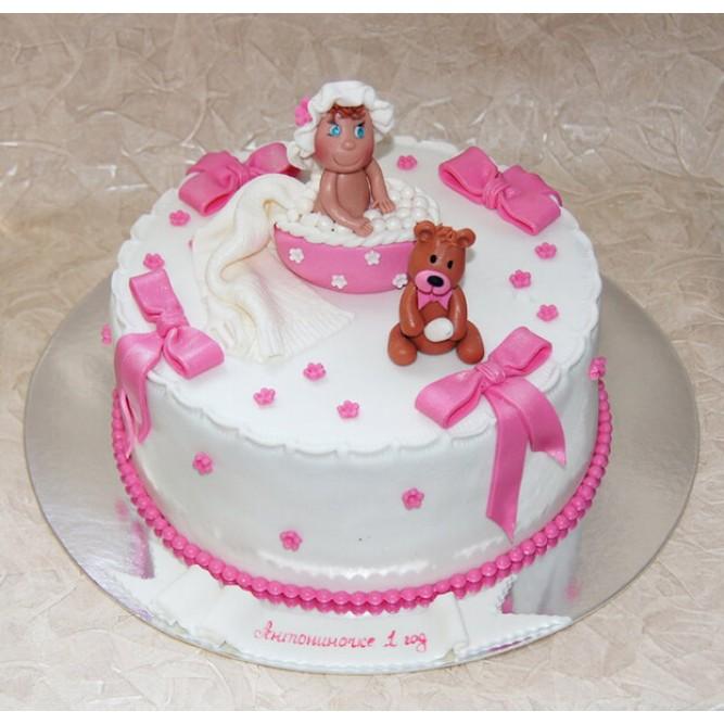 Торт на крещение девочки №838