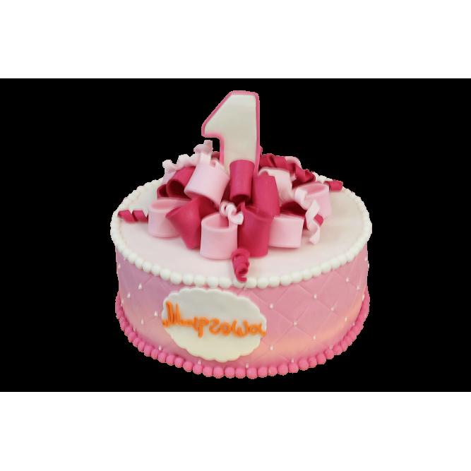 Торт На годик для девочки №369
