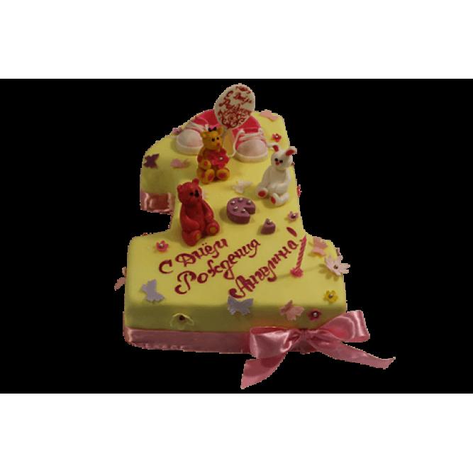 Торт Единичка для девочки №512
