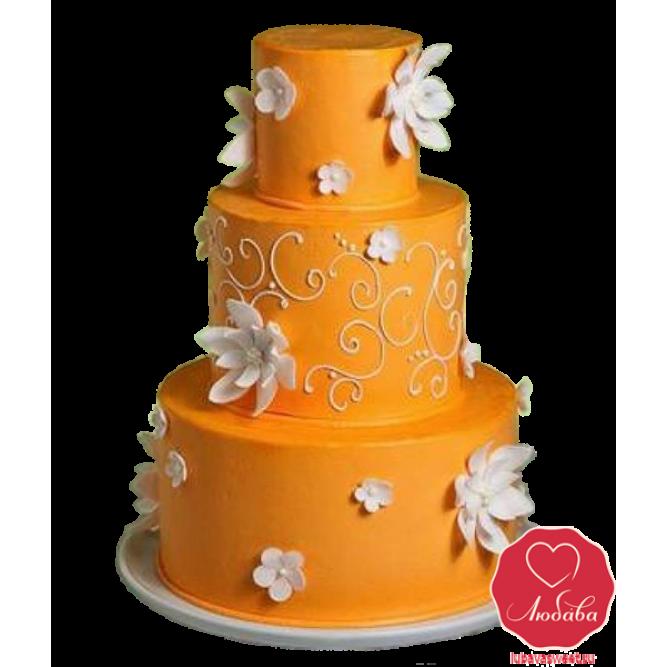 Торт свадебный оранжевый №807