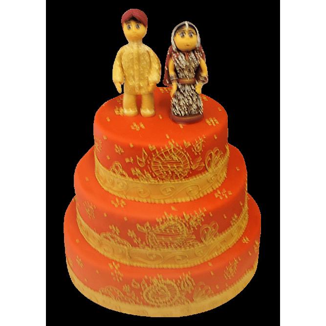 Торт свадебный Восточные мотивы №313