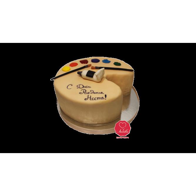 Торт Палитра и кисточки №1035
