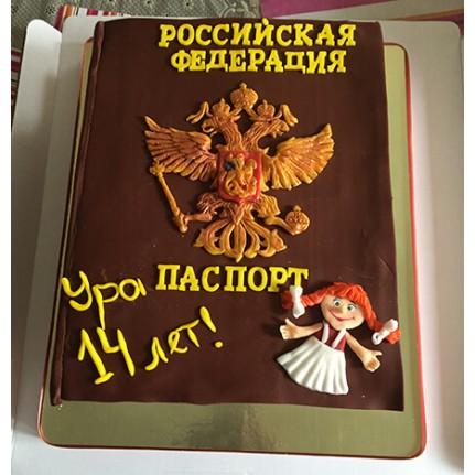Торт с паспортом на 14 лет №675