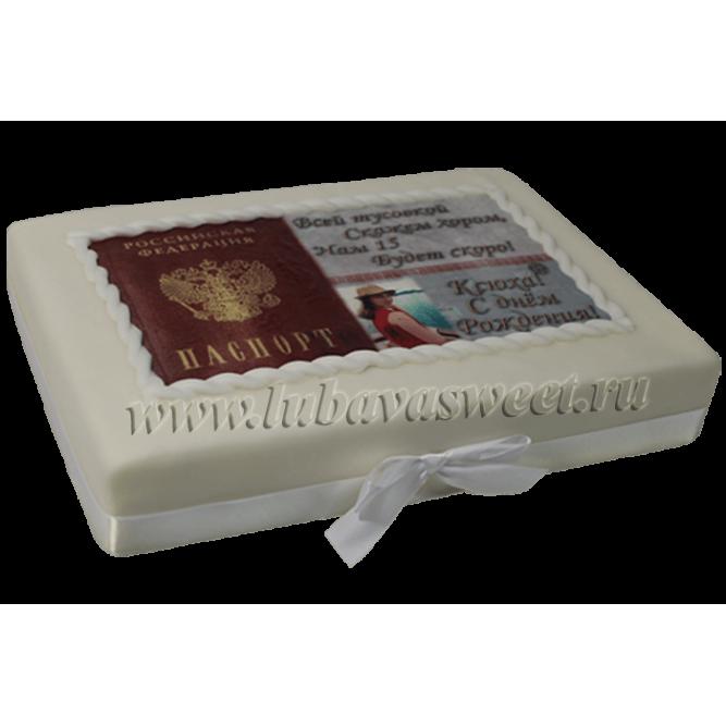 Торт Паспорт на день рождения №479