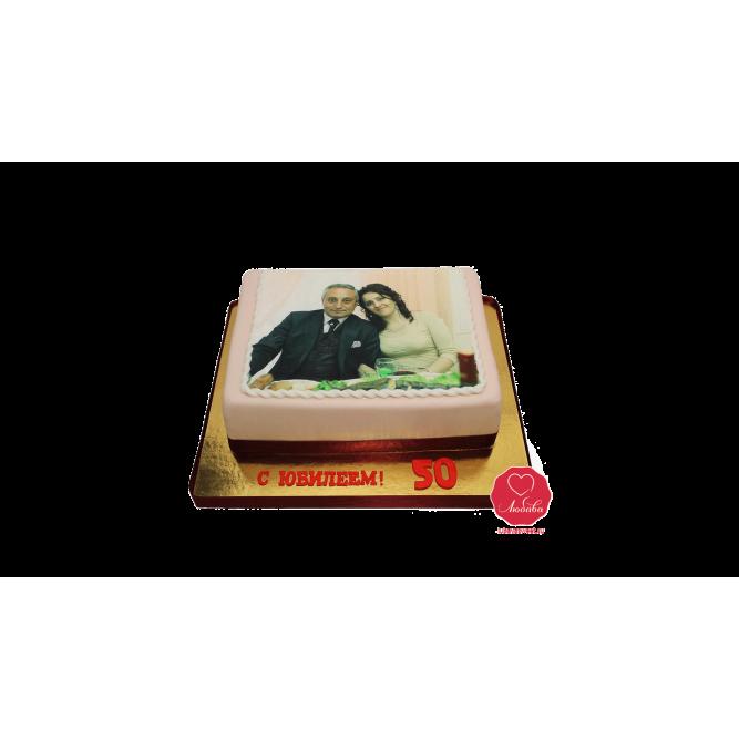 Торт с фотографией в окантовке №901