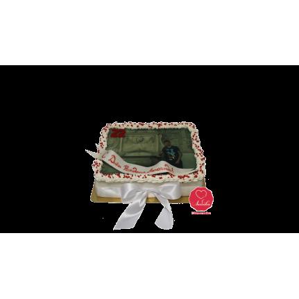 Торт с фотографией и надписью №1040
