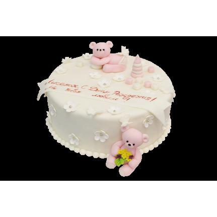Торт Розовые мишки №393
