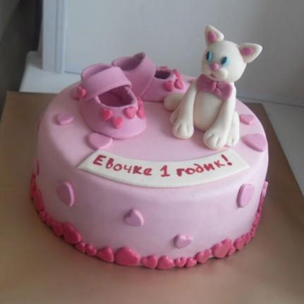 Торт Детский розовый №813