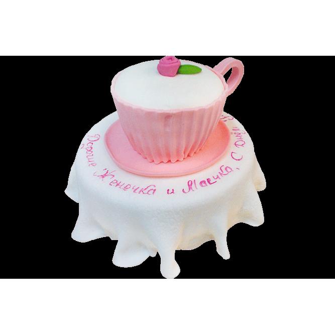 Торт Розовая чашка №390