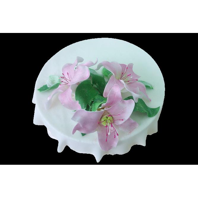 Торт Розовые лилии №392