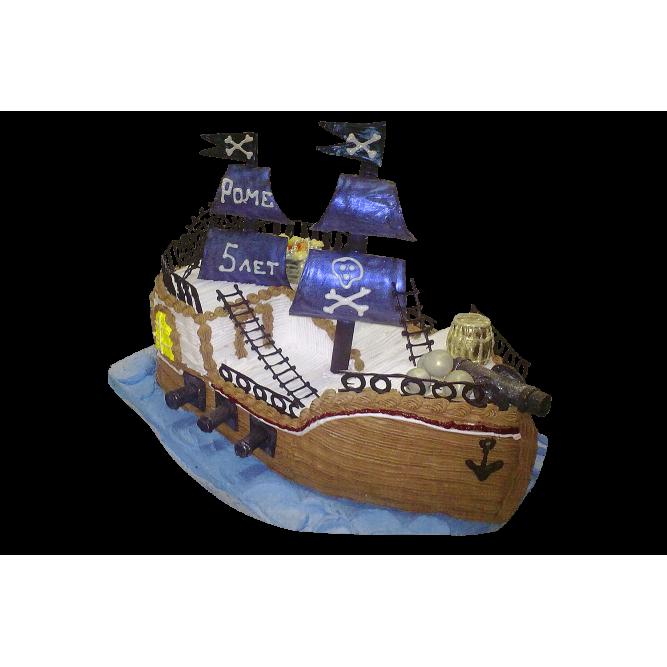 Торт Пиратский корабль №381