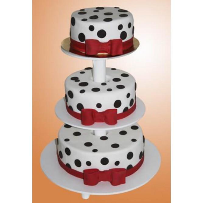Торт в горошек с бантиком №798