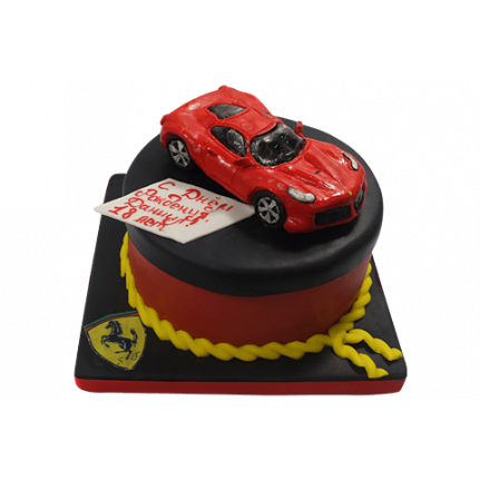 Торт Красный Феррари №468