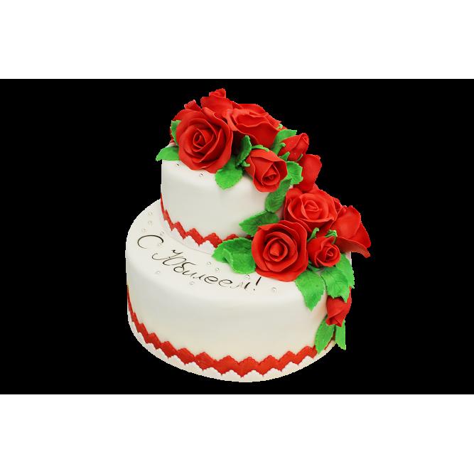 Торт Красные розы №185