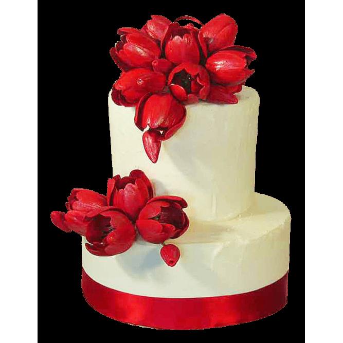 Торт Красные тюльпаны №344