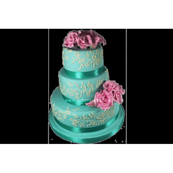 Торт свадебный Романтика №652