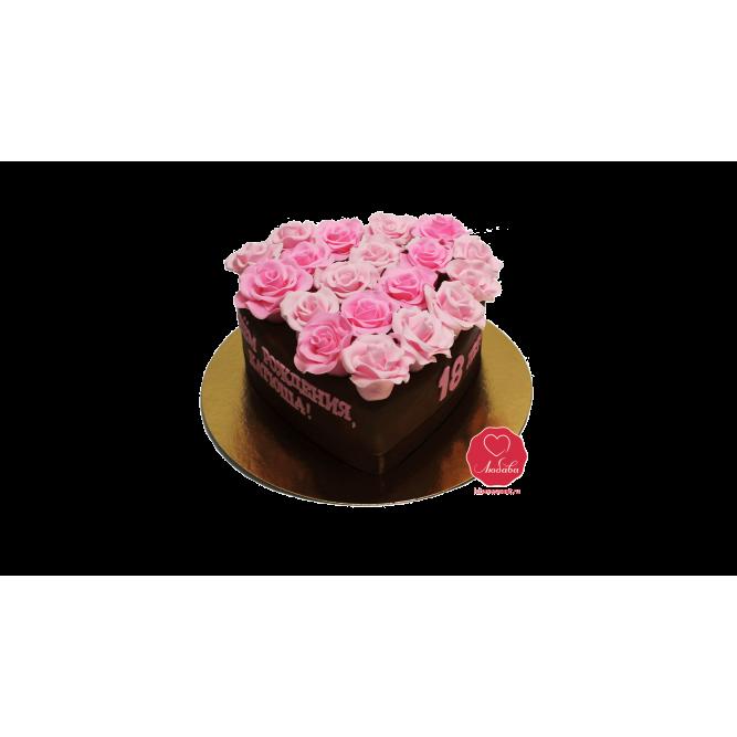 Торт Розы в сердце №929
