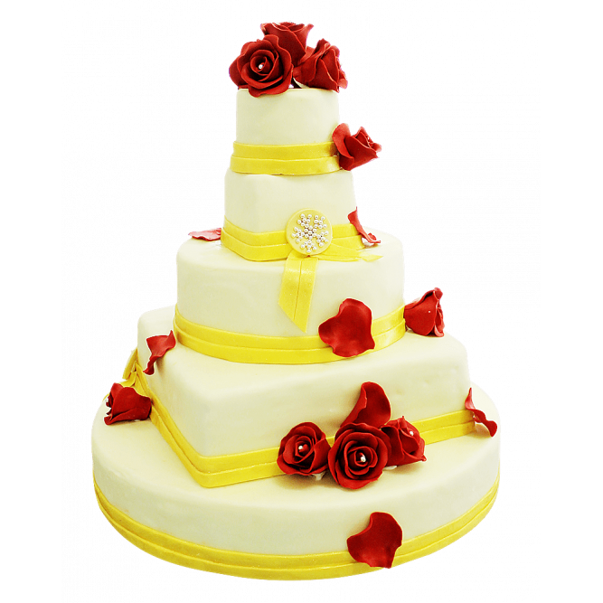 Торт свадебный Лепестки роз №352