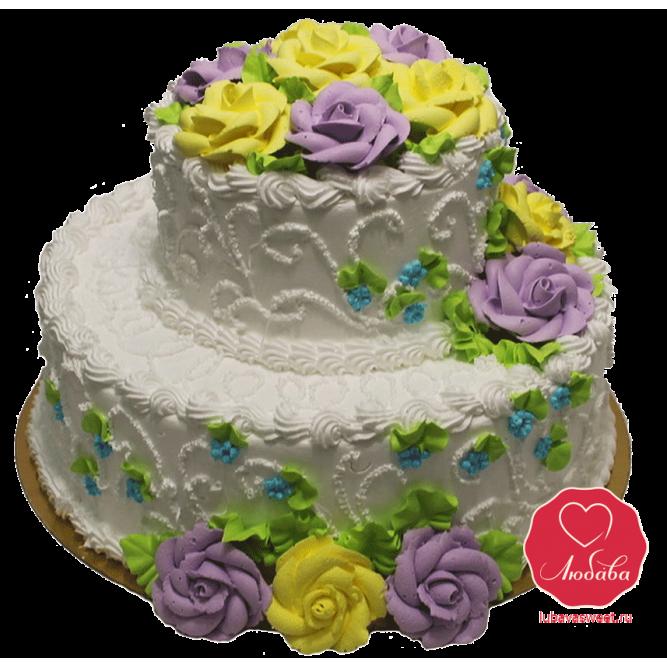 Торт Розовый куст №921