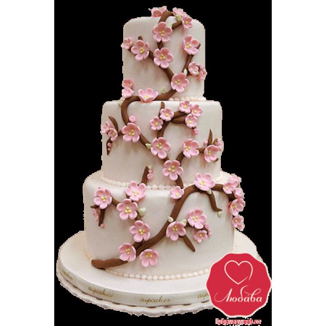 Торт свадебный Сакура №767