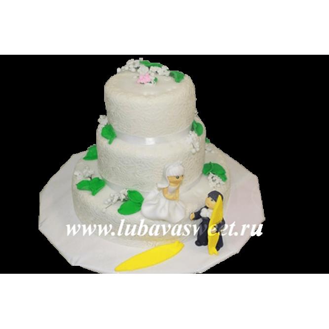 Торт свадебный серферы №196