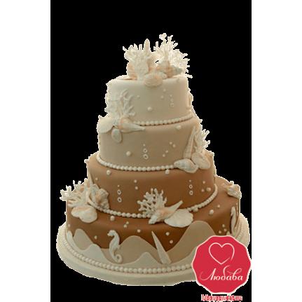Торт свадебный №744