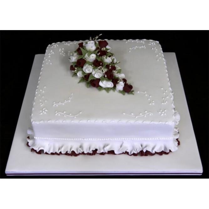 Торт свадебный одноярусный №738