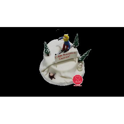 Торт Лыжник в лесу №1085