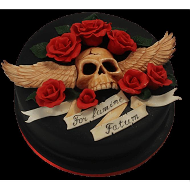 Торт Череп и розы №511