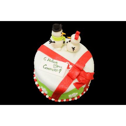 Торт Снеговики №414