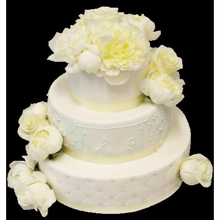 Торт свадебный Душа невесты №320