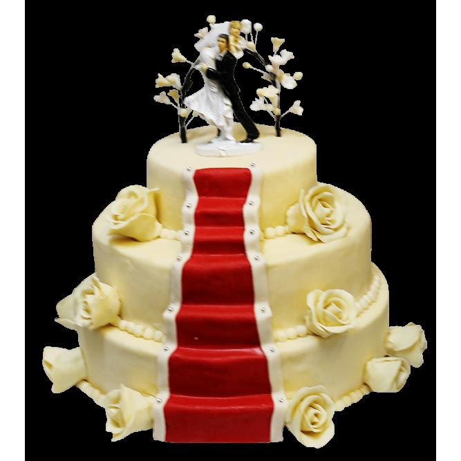 Торт свадебный Сказка для влюбленных №406