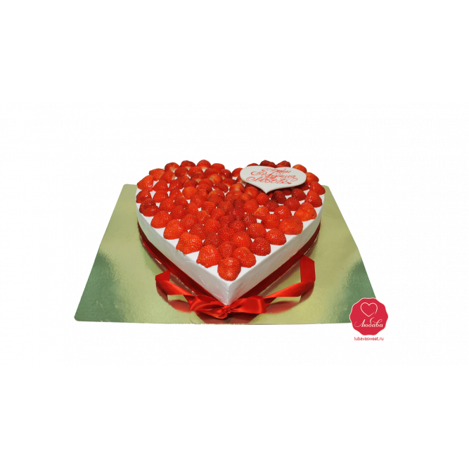 Торт Клубничное сердце №972