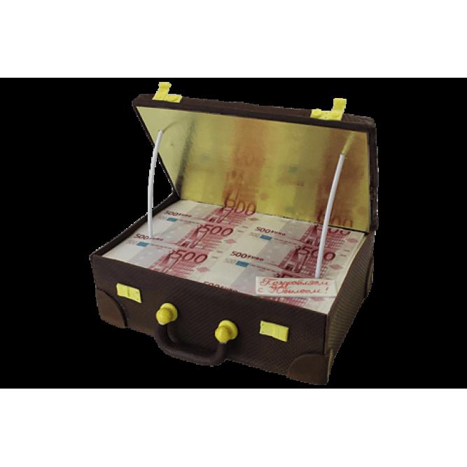 Торт Чемодан с евро №527