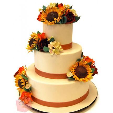 Торт Свадебный подсолнух №789