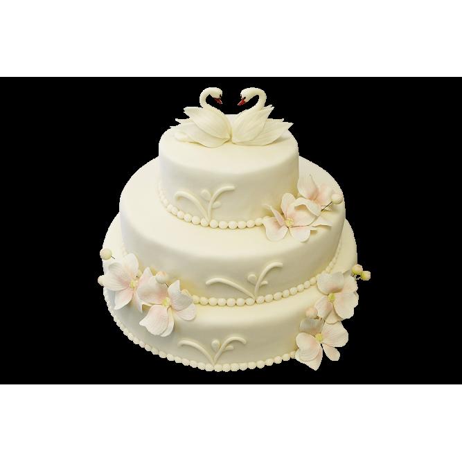 Торт свадебный Лебединая верность №351