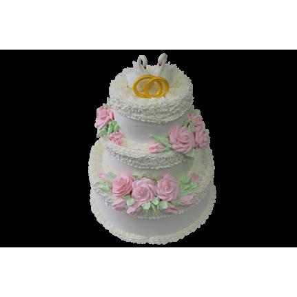 Торт свадебный Лебединая верность 2 №469
