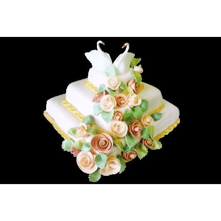 Торт свадебный Лебеди №350