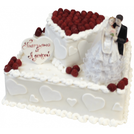 Торт свадебный Сладкая радость №411