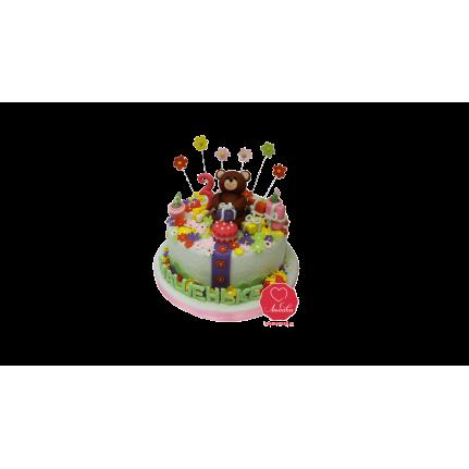 Торт Медвежонок с подарками №1037