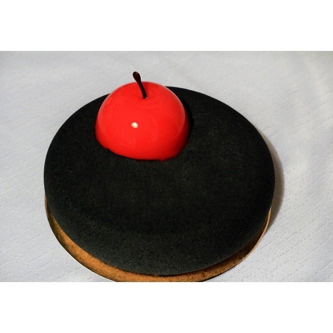 Торт Бархатный черный с яблоком №1136