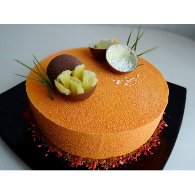 Торт Бархатный оранжевый №1143