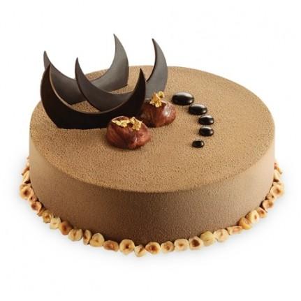 Торт Бархатный шоколадный с орехами №1140