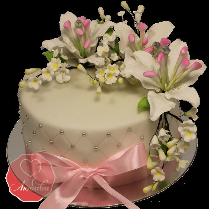 Торт Цветочный лилии №1158
