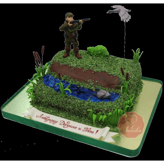 Торт Охотник и утка №1170