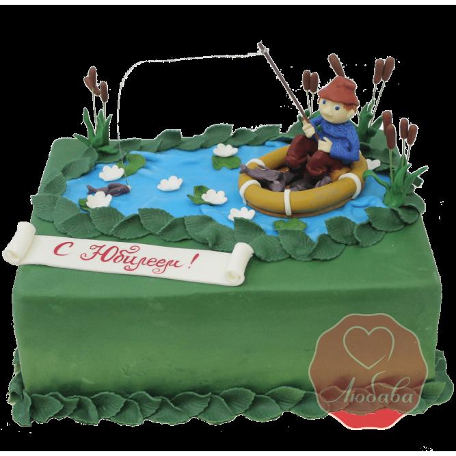 Торт Рыбак в лодке №1160