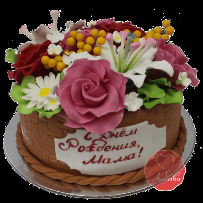 Торт с цветами №1167